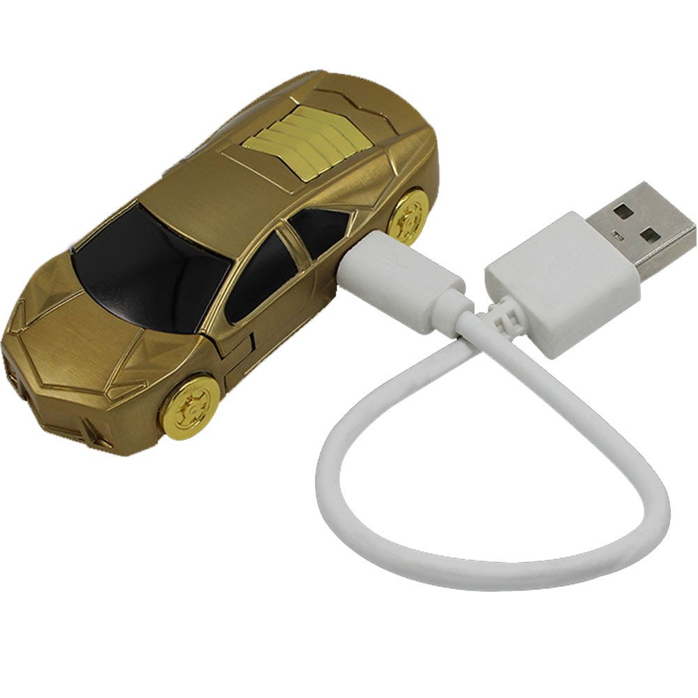 ถูก สร้างสรรค์Flameless W Indproofโลหะชาร์จUSBบุหรี่อิเล็กทรอนิกส์เบาเบาในรถรูปร่างด้วยสายUSBกล่องของขวัญ