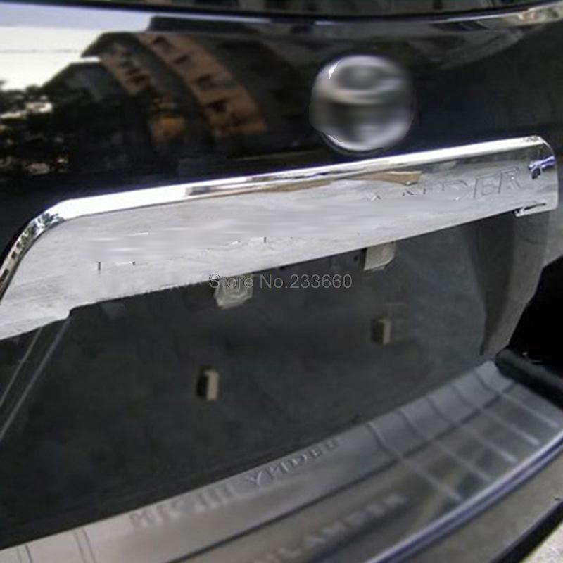 For Toyota Highlander 2008 2009 2010 Chrome Rear Trunk lid Cover Trim Tail Gate Decoration Protector(China (Mainland))