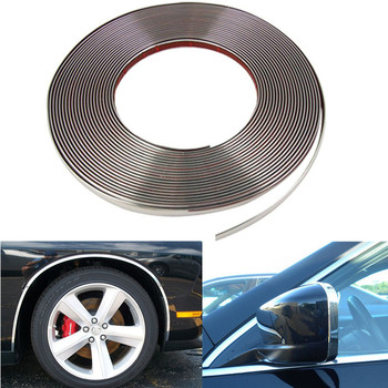 16FTX15MM Chrome Styling Moulding Trim Strip Protect Scratching DIY For Car Bumper Door Switch Dashboard Grille Window Edge Rim