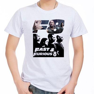 Fate Furious 8 Printing T-shirt Men 2017 New Arrival Van Diesel Cotton Short Sleeve Men T shirt Summer Male Tshirt