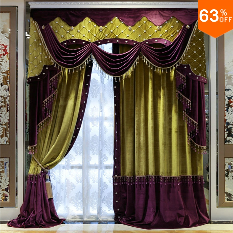 Purple Curtains For Bedroom Living Room Curtains For Hotel Hall Curtain Classic Elegant Living Room Curtains