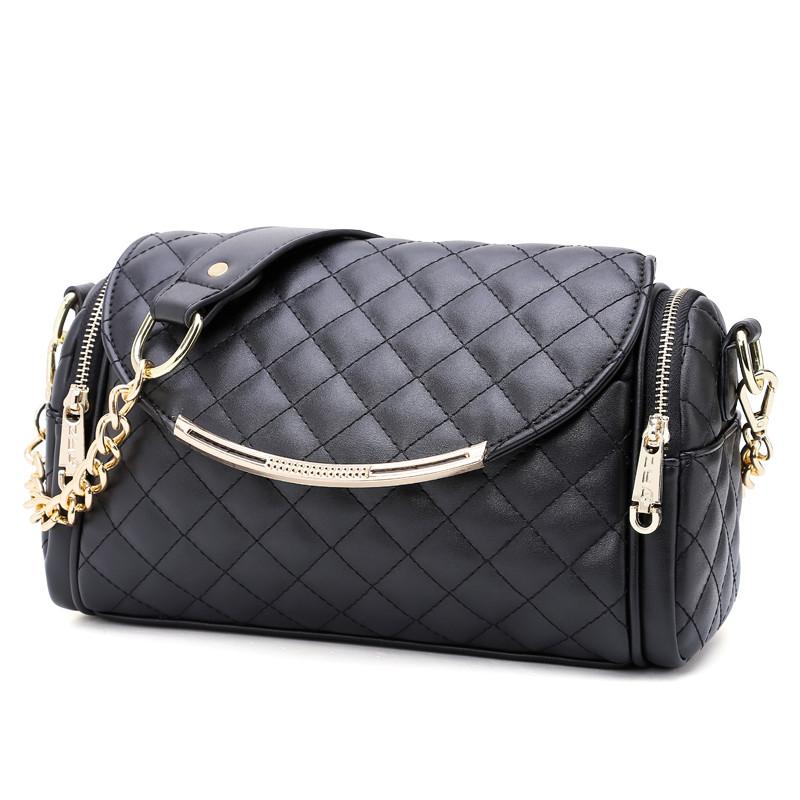 Our new ZYA2016 bag ladies satchel Lingge pillow bag chain bag bag bag<br><br>Aliexpress
