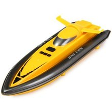 BR-120 RC Racing Boat Omni-directional Airship Speedboat Model Toy Gift(Yellow)(China (Mainland))