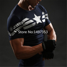 Men Marvel Avengers 3 iron man Civil War Tee Captain America T Shirt 3D Printed T-shirts Fitness Clothing - Jackie Robin' Store store