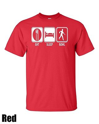 Eat. Sleep. Bowl. (Bowling) T Shirt All col and Sizes Cotton Free Shipping(China (Mainland))