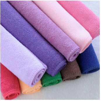 2015 Hot Sale Car Wash Meters free Shipping 25*25cm Bamboo Fiber Non Stick Oil Washing Towel Do Not Drop Wool Cloth Random Color(China (Mainland))
