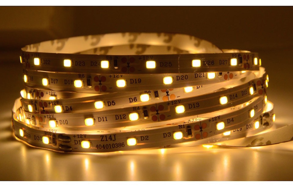 led strip light SMD2835 flexible DC12V 60leds/m warm/cool white color christmas festival decorative indoor/outdoor lighting(China (Mainland))
