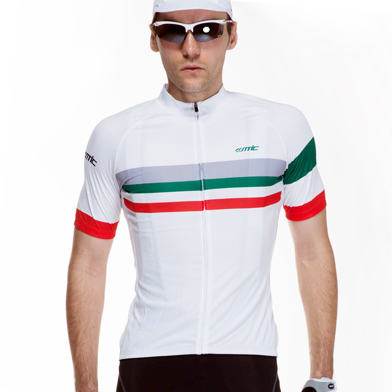 Santic Outdoor Sports Cycling Riding Men Summer Breathable Anti-sweat Jerseys MTB Road Bikes Bicycle Quick Dry Reflective Jersey(China (Mainland))