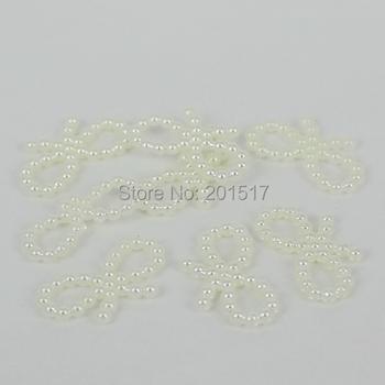 Bowknot Shape 1000pcs 18x10mm Ivory Color Imitation Pearls Flatback Pearls For Nail Cellphone Laptop Art Diy
