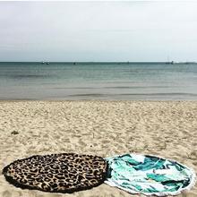 Indian Round Hippie Tapestry Beach Throw Roundie Mandala Towel Yoga Mat Bohemian Tassel Round Beach Towel(China (Mainland))