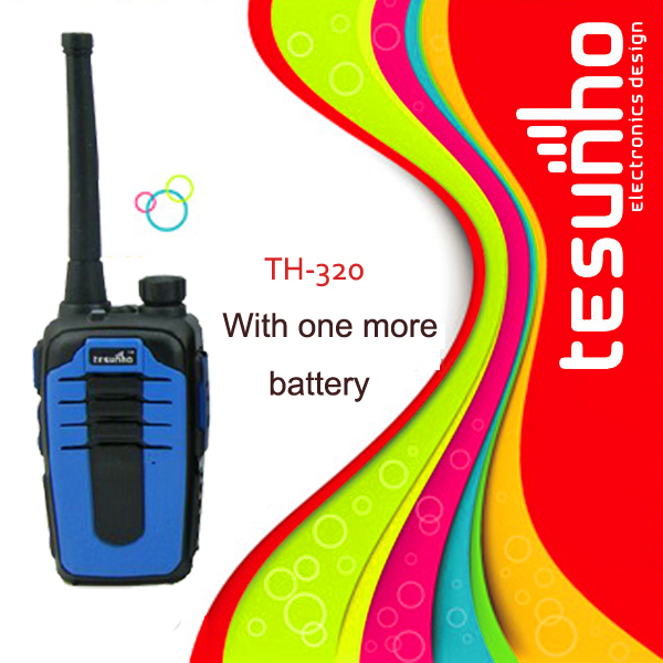 TesunhoTH-320 with one more pc battery portable radio fashionable colorful two way radio cheap walkie talkie for outdoor travel(China (Mainland))