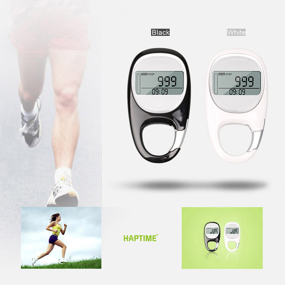 3D Pedometer LCD Display Step Calorie Counter Walking Motion Tracker Run Distance with 7-Day Memory Clock Goal Setting(China (Mainland))