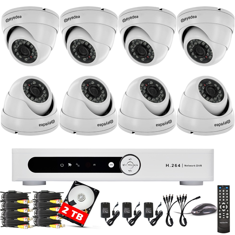 Eyedea 16 CH 1080N 720P HDMI Surveillance DVR Phone View Email Alert 3500TVL Indoor Dome Home CCTV Security Camera System 2TB<br><br>Aliexpress