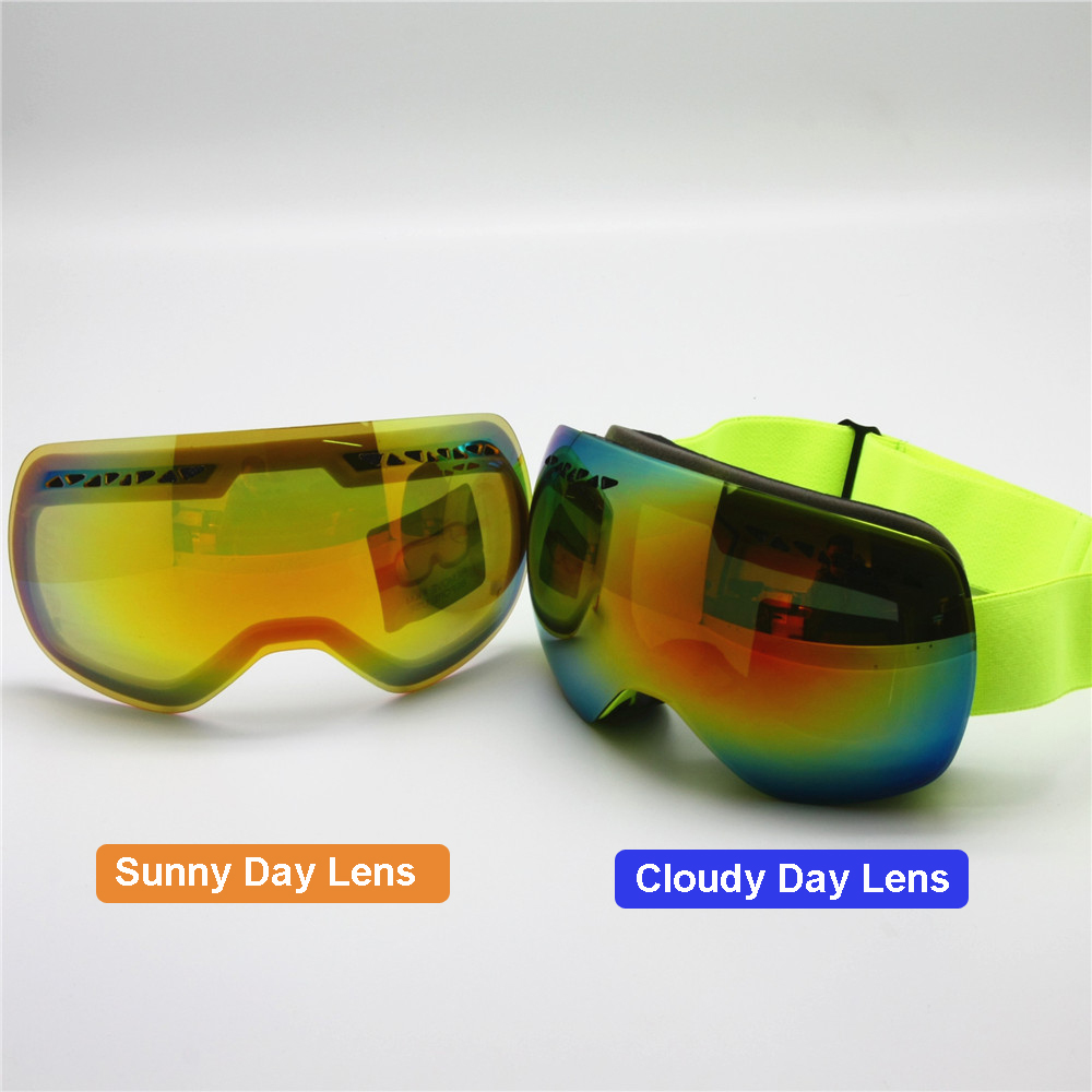 ski goggles with cloudy day lens interchangeable