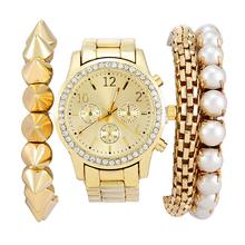 Women Dress watch Fashion Luxury Casual Rhinestone Quartz Watches Bracelet sets Jewelry women Wristwatches relogios feminino