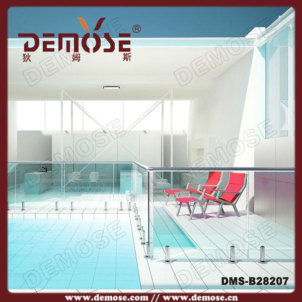 Demose piscina valla barandilla de vidrio en barandillas y for Barandilla piscina