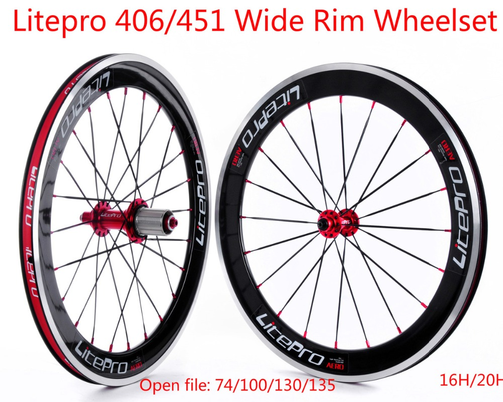 Litepro S42 BMX Wide Rims Wheelset 20inch 451 Wheelset Folding Bike Bicycle Wheels BMX Parts(China (Mainland))