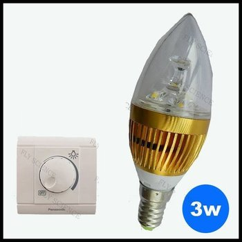 Free shipping New Design 320LM Dimmable led candle light E14 3W Crystal light 30PCS one lot can Batch mixing