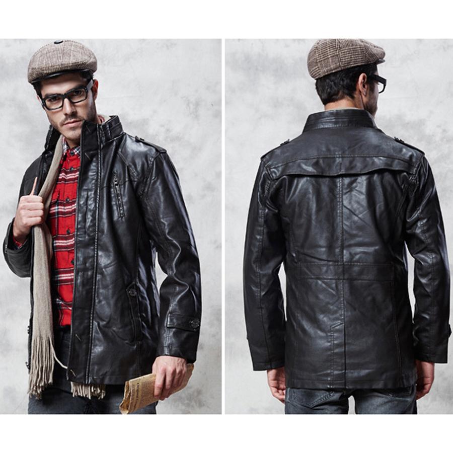 Leather Parka Coat
