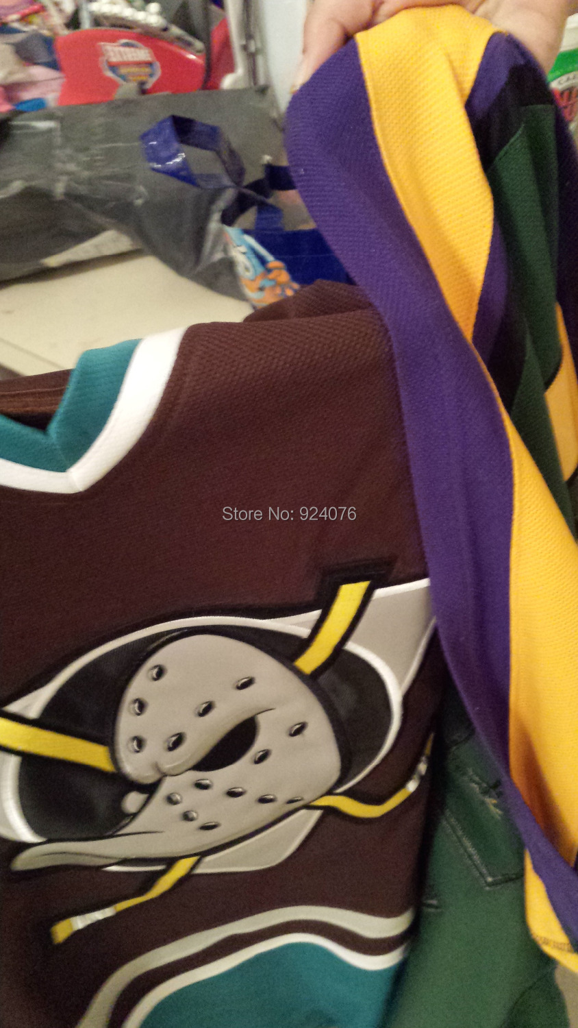 Cheap ICE Hockey Anaheim Mighty Ducks Jersey Purple Teal VTG Authentic Jerseys, Any Number, Any Name Sewn On (XXS-6XL)<br><br>Aliexpress