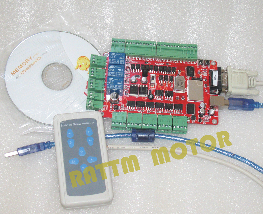 4 axis USB CNC breakout board interface board USBCNC with Handle control(China (Mainland))
