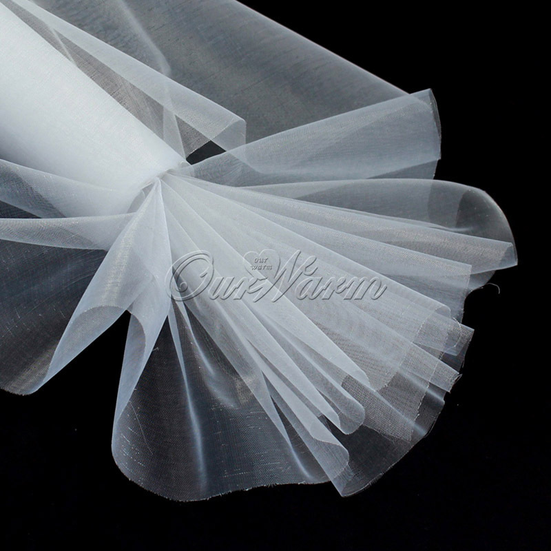 25M x 29CM White Roll Soft Sheer DIY Organza Fabric Wedding Party Chair Sash Bows Swag Decoration(China (Mainland))