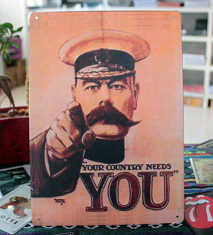 """Vintage painting Metal tin signs """"Your country needs you"""" wall art home decoration bar cafe house crafts 20X30 CM Free shipping(China (Mainland))"""