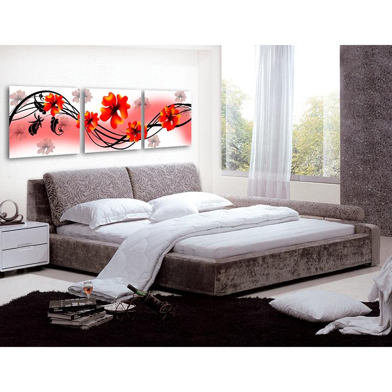 3 Pcs de Impressão sem moldura Pintura da Lona Arte Da flor de trombeta para Sala de estar do Retrato Da Parede Decoração(China (Mainland))