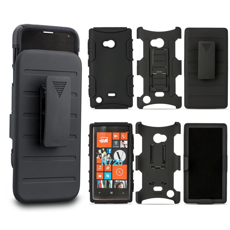Shockproof Impact Rugged Combo Hard Phone Case Slide Cover For Nokia Lumia 720 Case(China (Mainland))