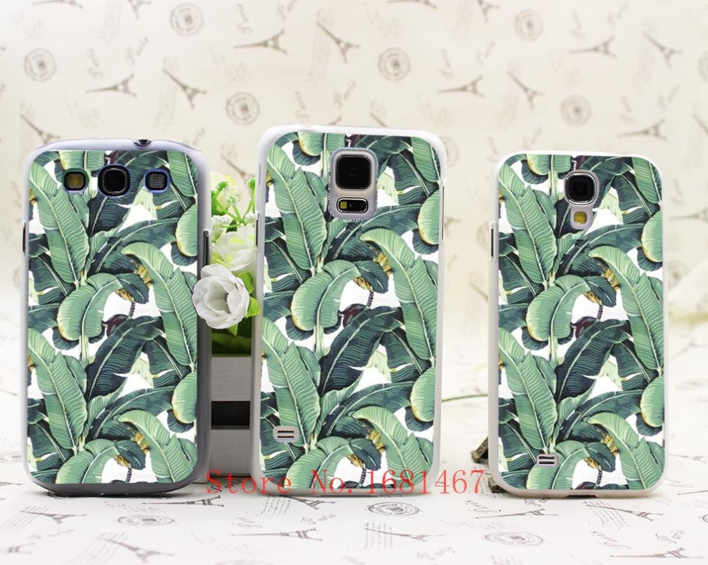 banana leaf pattern Tropical Banana Leaf Pattern Hrad Style Case Cover for Samsung Galaxy S5 S4 S3 I9600 I9500 I9300(China (Mainland))