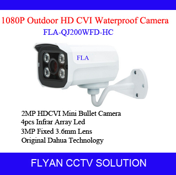 HDCVI Mini Bullet Camera 1080P IR Night Vision video security surveillance outdoor WDR-D OSD Brand HD-CVI Cam bracket