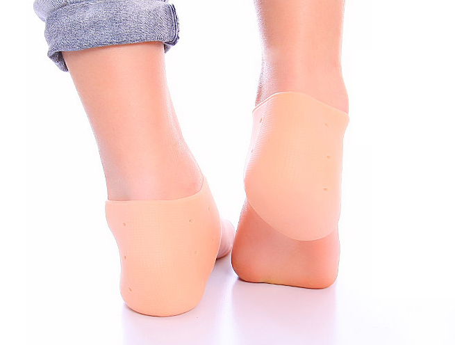 1 Pair Silicone Foot Chapped Care Tool Moisturizing Gel Heel Socks Cracked Skin Care Protector Pedicure Health Monitors  Z23601