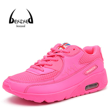 BZ 2016 Spring New Women Casual Shoes Solid Lace Air Women's Shoes Sport Leather Breathable Flat Shoes Student Casual Shoe