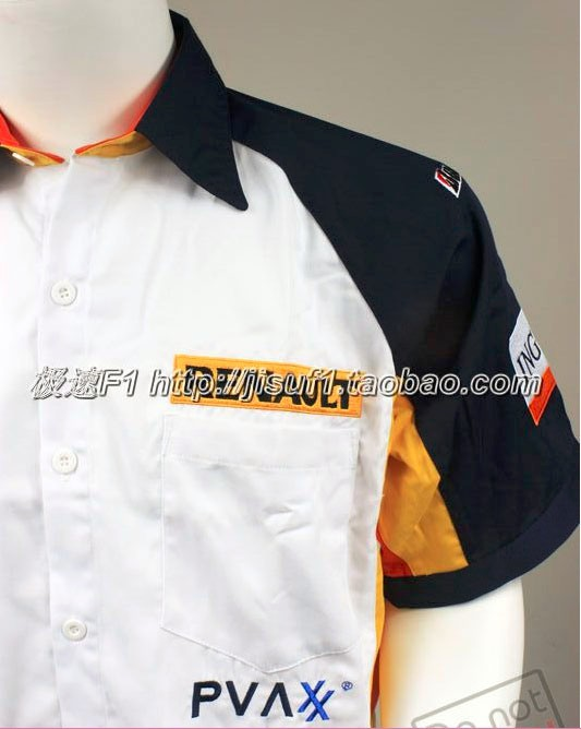 Brand 2016 Original for Renault F1 Suit Off Road Game Car 4S Overalls Mens Summer Short sleeve Shirt Embroider Motorcycle Jacket(China (Mainland))