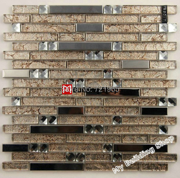 stainless steel glass mosaic tile ssmt147 metallic mosaic