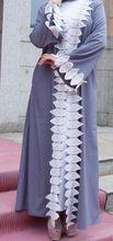 Серый Абая для женщин Дубай Бандажное пальто мусульманский кафтан длинный кардиган Болеро хиджаб Исламская одежда Турецкий Бангладеш плат...(China)