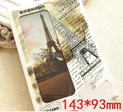 143*93mm/DIY Multifunction Vintage Eiffel Tower series postcard set/Christmas wish card/30pcs each set(China (Mainland))