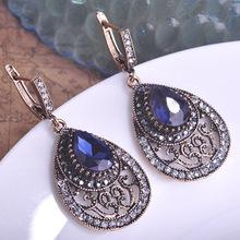 Royal Blue Earrings Turkishe Jewelry Good Selling vintage Brincos Bijuterias Joias Indians Women Colar Aretes Grandes Relogio UK