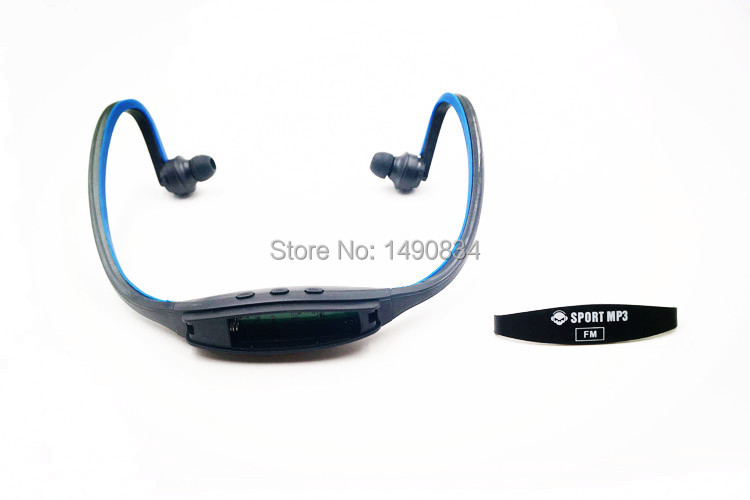 Wireless Sports Gym Running Headset Headphones MP3 Player Supports TF Card Reader With FM AAA Battery(China (Mainland))