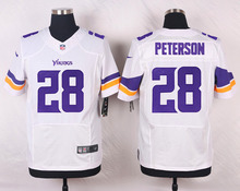 Minnesota Vikings #28 Adrian Peterson #22 Harrison Smith #11 Laquon Treadwell #5 Teddy Bridgewater Elite White Purple Team Color(China (Mainland))