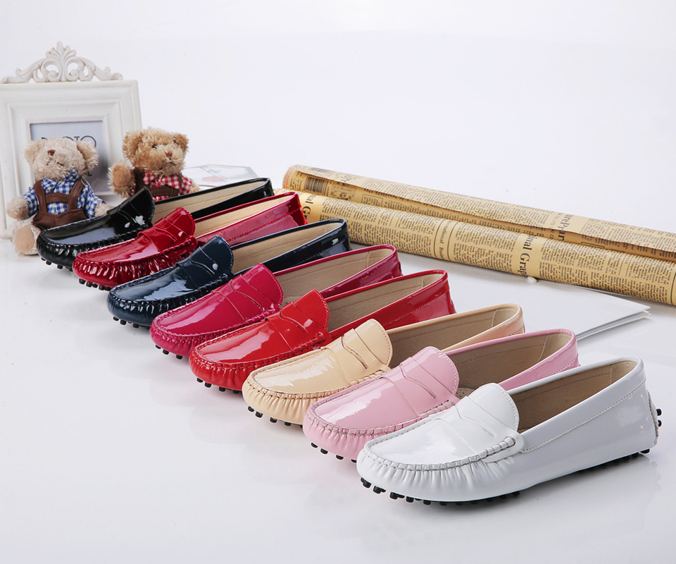 US5-9 Top patent Leather Comfort Slip On penny loafer flat ballerina Women casual Shoes<br><br>Aliexpress