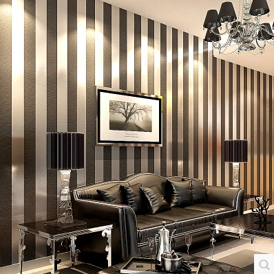 Modern Black Wallpaper Striped Purple And Silver Glitter Wall Paper Roll For Wall Living room Bedroom TV Sofa Background(China (Mainland))