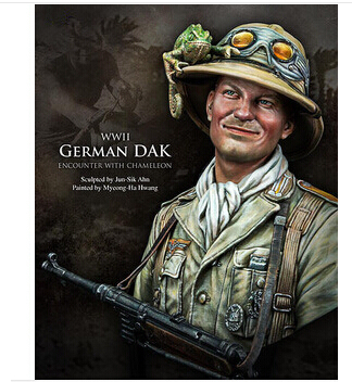 product 1/10 Scale WW2 German soldier with chameleon WWII Figure Resin Bust Model Kit Free Shipping