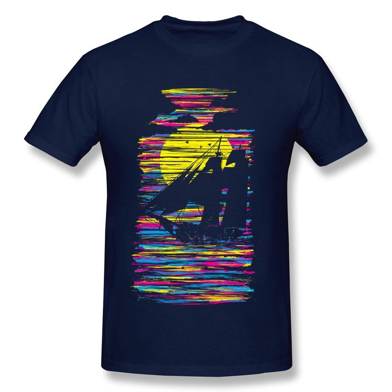 low price short sleeve men s t shirt sail cmyk custom
