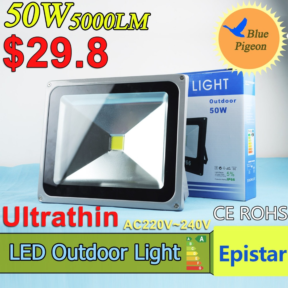 LED Flood Light 50W 30W LED Lamp 5000LM IP65 Waterproof LED Outdoor Lighting AC220V-240V LED Spotlight Warm Cold LED floodlight(China (Mainland))