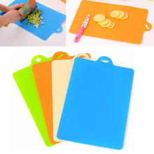 Buy New 21.5*32.5cm Cutting Board Kitchen Cooking Tools Flexible PP Plastic Non-slip Hang Hole Food Slice Cut Chopping Block TB Sale for $2.50 in AliExpress store