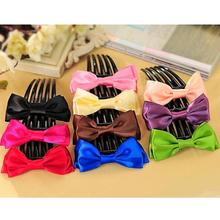 Bright Solid Colors 5 Long Teeth Hair Comb Girls Fashion Headwear Trendy Hair Accessories for Women