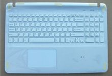 New laptop us keyboard for sony vaio Fit SVF152 SVF153 with cover white backlit(China (Mainland))