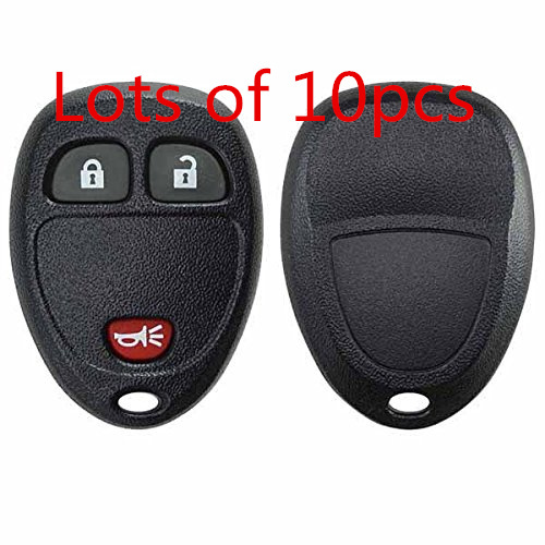 10 Replacement 3Bts Keyless Entry Remote Key Fob Shell Case for Cadillac Escalade Chevrolet Avalanche Captiva