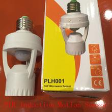 Hot sell 110-220V/AC LED Infrared PIR E27 Lamp Bases 6M Distance Motion Sensor Bulb Holder Converter Adaptor(China (Mainland))